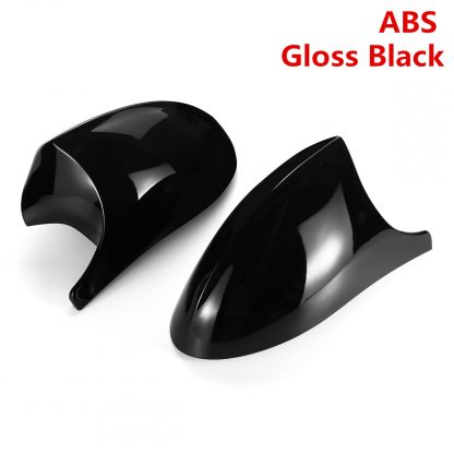 2xMirror Cover E90 Car Side Door Rearview Side Mirror Cover Cap For BMW E90 E91 2005-2007 E92 E93 2006-2009 M3 Style E80 E81 E87