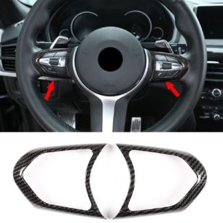 Car Steering Wheel Button Frame Trim Cover for BMW 1 2 3 4 5 6 Series F20/ F22 / F30/F31 F32/F33/F36 /X5/F15 /X6/F16 M-Sport