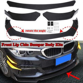 3pcs Carbon Fiber Look Universal Car Front Bumper Lip Bumper Spoiler Lip Body Kits For BMW F10 F30 F32 F36 F80 M3 F82 M4 G30