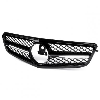 For AMG C63 Style New Car Front Upper Grille Grill For Mercedes For Benz C Class W204 C180 C200 C300 C350 2008-14 Racing Grille