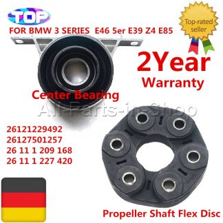 AP03 26117511454 26127501257 1220843 For BMW E36 E39 E46 E85 E81 Driveshaft Center Carrier Support + Bear Flex Disc Joint SET