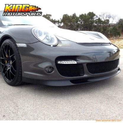 Fit For 06-12 Porsche 997 OE Style Front Bumper Lip Unpainted Black- PU