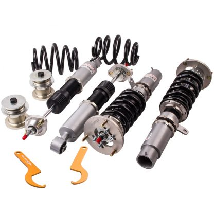 24 Ways Adjustable Damper Coilovers Suspension Control arms for BMW E46 3 Series Coupe Estate Touring 325i 325Ci 325xi 1998-2004