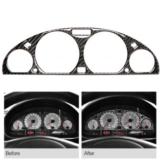 Carbon Fiber Internal Instrument Panel Decorative Frame Dashboard Cover Stickers Trim Interior For BMW E46 M3 1998-2005