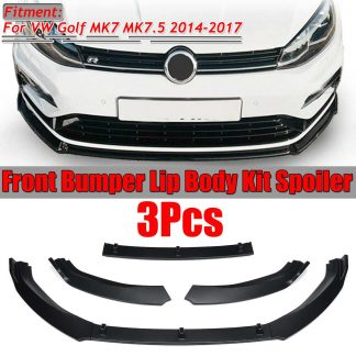 3pc Car Front Bumper Splitter Lip Spoiler Diffuser Guard Cover Trim For Volkswagen For VW For Golf MK7 MK7.5 2014 2015 2016 2017
