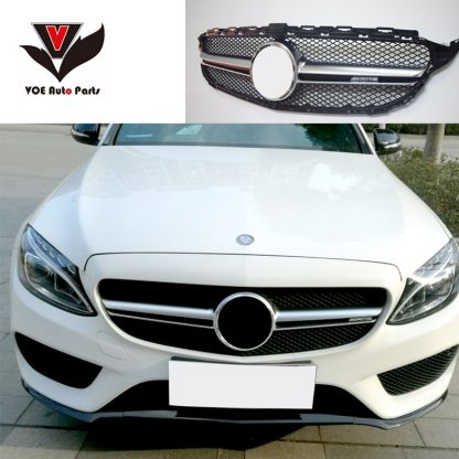 W205 AMG C63 Style Front Grill Grille With AMG Logo for Mercedes-Benz C-class W205 C180 C200 C220d C250 C260 C300 C400 2015-2018