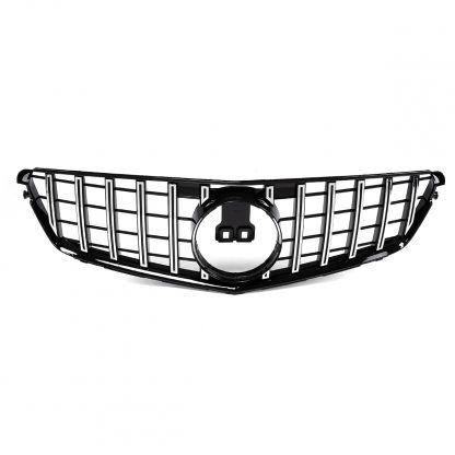 New W204 Chrome Silver GT R For AMG Style Car Front Bumper Grill Grille For Mercedes For Benz C-Class W204 C200 C300 2008-2014